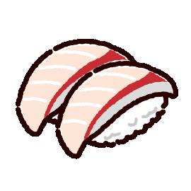 お寿司のイラスト(はまち)(2カット)