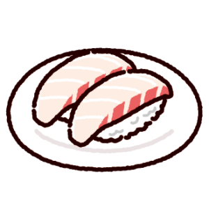 お寿司のイラスト(鯛)