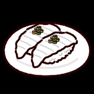 お寿司のイラスト(えんがわ)