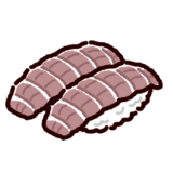 お寿司のイラスト(シャコ)