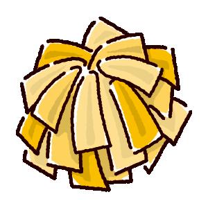 ポンポンのイラスト(ゴールド)