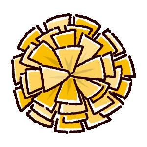 ポンのイラスト(ゴールド)