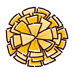 ポンポンのイラスト2(3カラー)