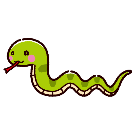 ヘビのイラスト(2カラー)