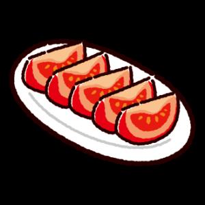 カットトマトのイラスト