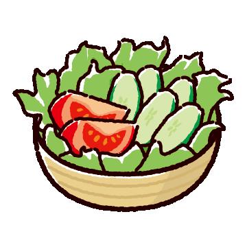 サラダのイラスト(2カット)