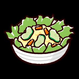 ポテトサラダのイラスト