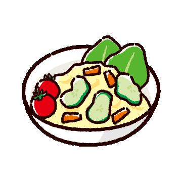 ポテトサラダのイラスト(2カット)