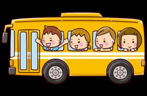バスに乗った子供のイラスト