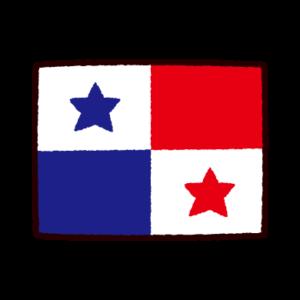 国旗のイラスト(パナマ共和国)