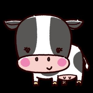 かわいい牛のイラスト(雌・丑)