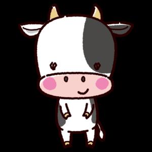 かわいい牛のキャラクターイラスト(雄・丑)