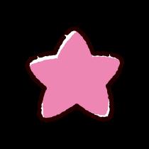 ピンクの星のイラスト