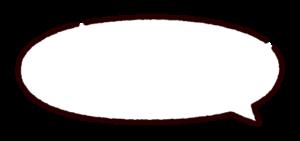 丸い吹き出しのイラスト