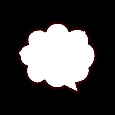 雲型の吹き出しのイラスト(4カット)