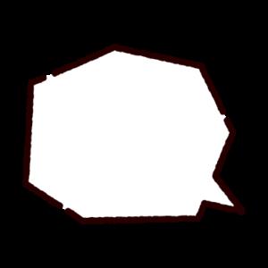多角形の吹き出しのイラスト
