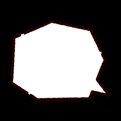 多角形の吹き出しのイラスト(2カット)