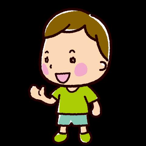 話すイラスト(会話・男の子2)(4カット)
