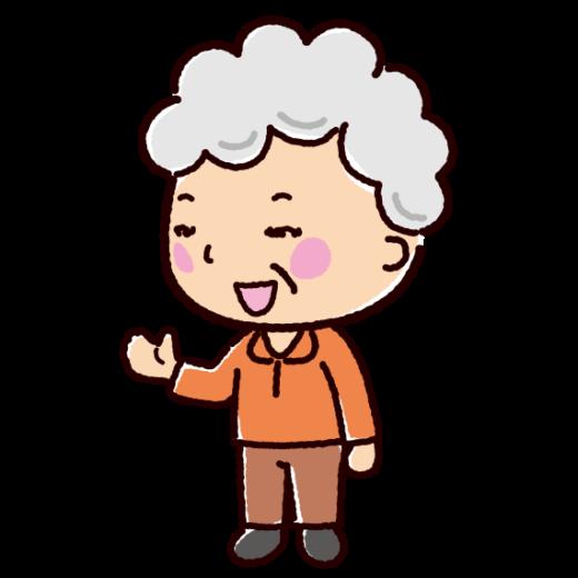話すイラスト(会話・おばあさん)(2カット)