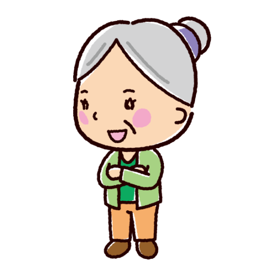 話すイラスト(会話・おばあさん2)(2カット)