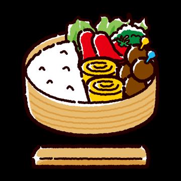 お弁当のイラスト2(2カット)