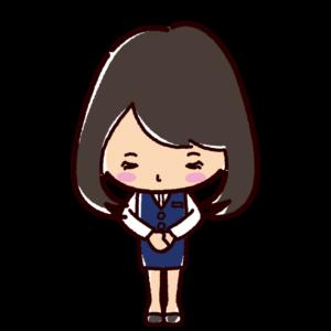 お辞儀のイラスト(女性・OL)