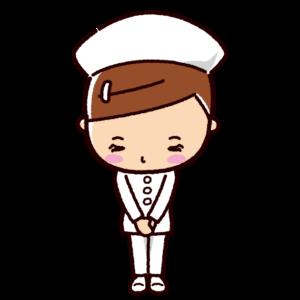 お辞儀のイラスト(女性・看護師)