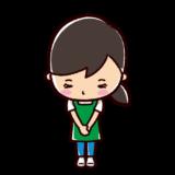お辞儀のイラスト(女性・店員)