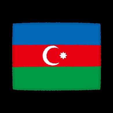 国旗のイラスト(アゼルバイジャン共和国)(2カット)