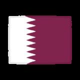 国旗のイラスト(カタール国)