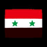 国旗のイラスト(シリア)