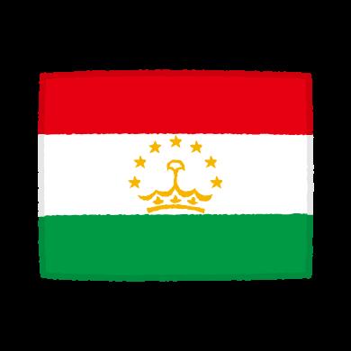 国旗のイラスト(タジキスタン共和国)(2カット)
