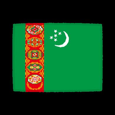 国旗のイラスト(トルクメニスタン)(2カット)