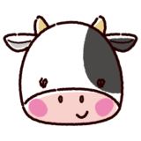 牛のアイコンのイラスト