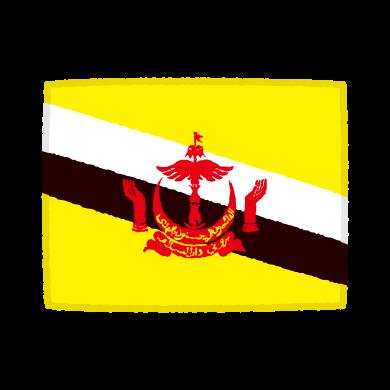国旗のイラスト(ブルネイ)(2カット)