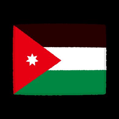 国旗のイラスト(ヨルダン・ハシミテ王国)(2カット)