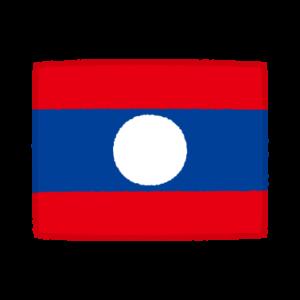 国旗のイラスト(ラオス人民民主共和国)
