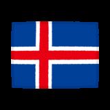 国旗のイラスト(アイスランド共和国)