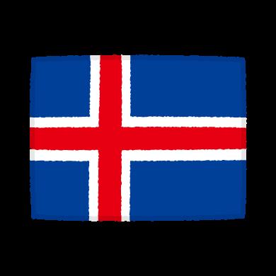 国旗のイラスト(アイスランド共和国)(2カット)