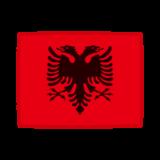 国旗のイラスト(アルバニア共和国)