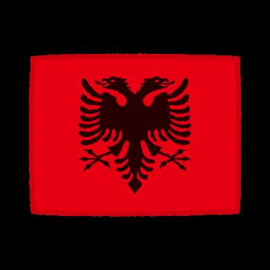 国旗のイラスト(アルバニア共和国)(2カット)