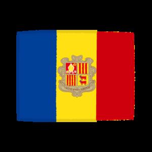 国旗のイラスト(アンドラ公国)
