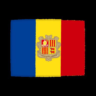 国旗のイラスト(アンドラ公国)(2カット)