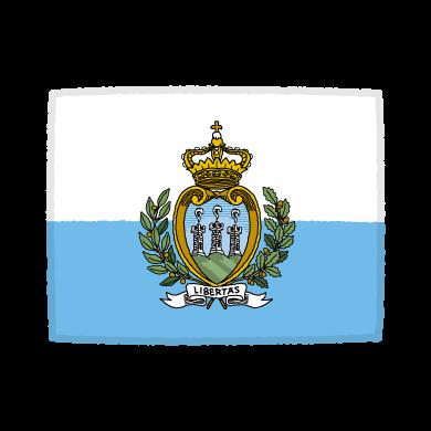 国旗のイラスト(サンマリノ共和国)(2カット)