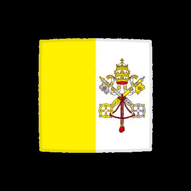 国旗のイラスト(バチカン市国)(2カット)