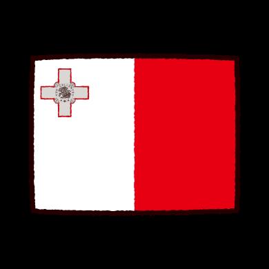 国旗のイラスト(マルタ共和国)