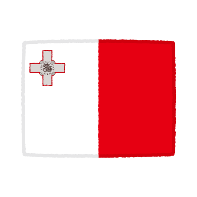 国旗のイラスト(マルタ共和国)(2カット)