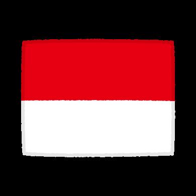 国旗のイラスト(モナコ公国)(2カット)