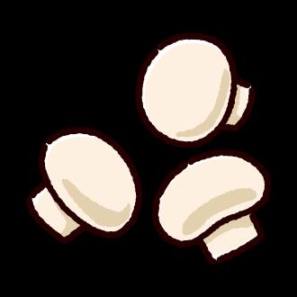 マッシュルームのイラスト(2カラー)