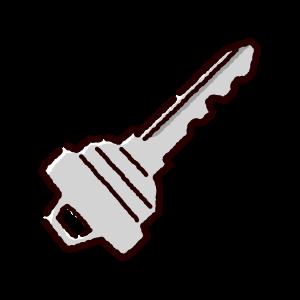 鍵のイラスト(2カット)